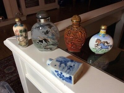 Beautiful Mixed Collection Of Antique Snuff Bottles