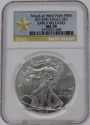 2013-W American Silver Eagle NGC MS 70 Early Releases