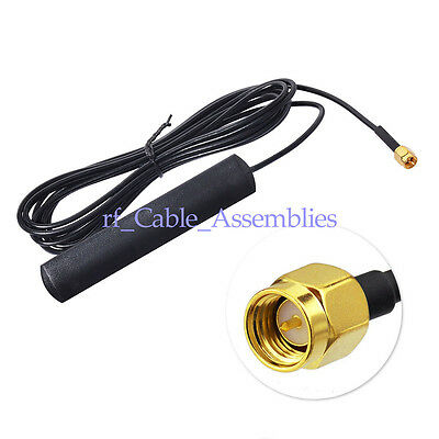 2pcs GSM Antenna 2 dbi 824 -960Mhz 1710-1990Mhz SMA male connector , 155*20*5mm