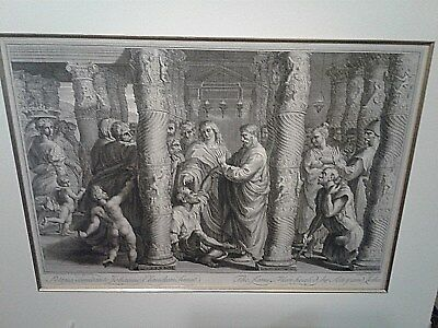 BERNARD F. LEPICIE  engravings - 18th century - HEALING THE LAME