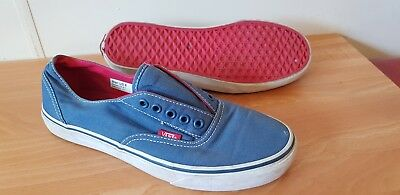 Vans Shoes Blue Red Mens Size 8 Womens Size 9.5