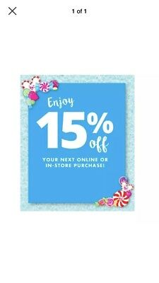 JUSTICE 15% OFF ENTIRE PURCHASE COUPON * Works on Sale *