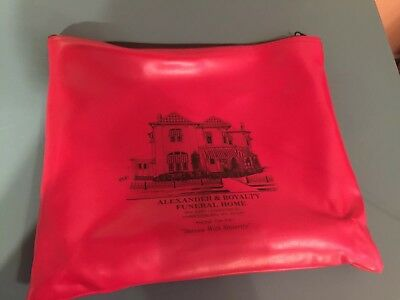 1970's Funeral Home Document Bag, Harrodsburg KY Mortuary Gothic Death item