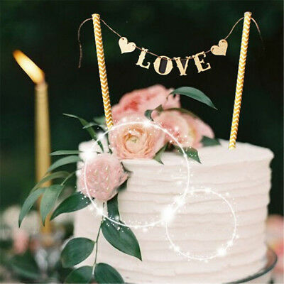 1 Set Love Flag Wedding Cake Topper for Wedding Party Cake Decoration SuppliesFO