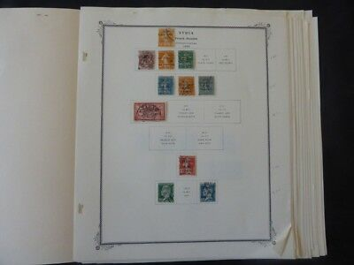Syria 1923 to 1957 Stamp Collection on Scott Specialty Album pages
