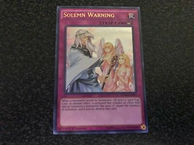 Solemn Warning Ultra Rare DUSA-EN085 Near-Mint 1st Edition