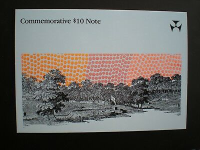 1988 $10 Bicentenary 1st issue  First Prefix AA00060254  in folder UNC As NEW