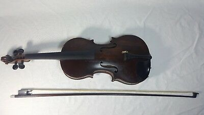 Antique Early 1800's 4/4 Violin with Bow Unmarked German? Italian? Roth-Waller