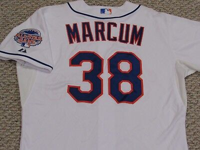 MARCUM size 48 #38 2013 New York Mets game jersey home white issued MLB HOLOGRAM