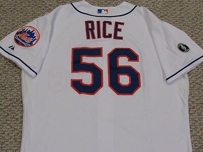 SCOTT RICE size 50 #56 2014 New York Mets game used  jersey home white MLB HOLO