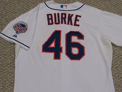 d89227826 GREG BURKE size 50  46 2013 New York Mets game used jersey home white MLB