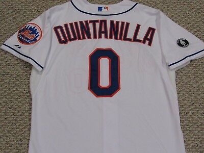 QUINTANILLA size 46 #0 2014 New York Mets game jersey issued home white MLB HOLO