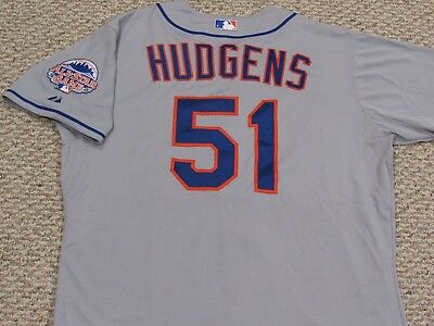 HUDGENS size 48 #51 2013 New York Mets GAME USED  jersey road gray MLB HOLOGRAM