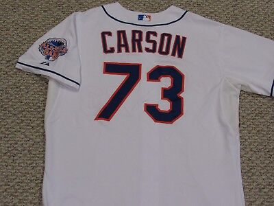 CARSON size 50 #73 2013 New York Mets game jersey home white issued MLB HOLOGRAM