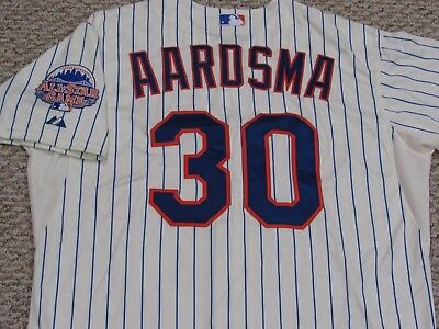 AARDSMA sz 48 #30 2013 New York Mets game  jersey issued home cream MLB HOLO
