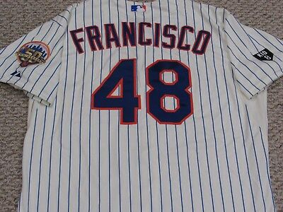FRANCISCO sz 52 #48 2012 Mets game jersey issued Home Cream  MLB HOLO 2 PATCH
