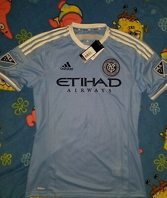 edc2cff45f1 ADIDAS MLS MENS New York City F.C. Authentic Soccer Jersey NWT  120 ...