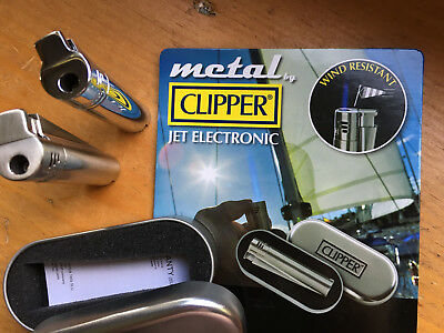 Clipper, Jet Electronic, Butane Lighter, Adjustable Torch Jet Flame, refillable