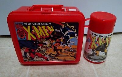 1992 The Uncanny X-Men Plastic Lunch Box with Thermos by Aladdin