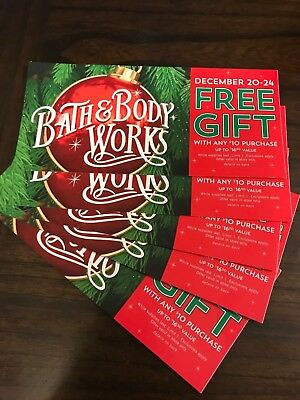 Bath and Body Works Coupon Gift w/Purchase Set of 5!!!