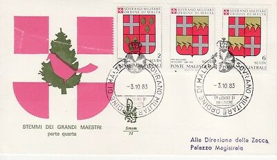 Sovereign Military Order of Malta SMOM FDC 1983 Crests