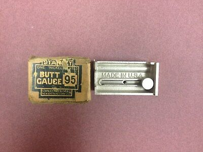 Vintage Stanley No. 95 Butt Marking Gauge New in Box Directions