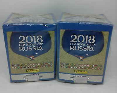 100 Packs - Panini 2018 Russia FIFA World Cup Stickers