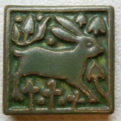 "Motawi Tileworks Art Tile MEDIEVAL RABBIT  3"" X 3"" Wonderful Christmas Gift!"