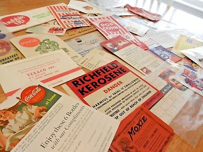Vintage Paper Ephemera Lot Advertising TEXACO COKE RICHFIELD NEHI PEPSI BIG BOY
