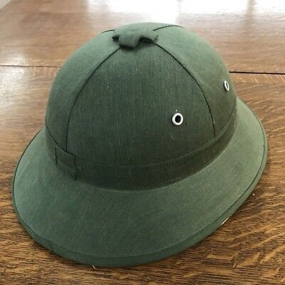 Vintage Military Style Pith Safari Green Hat Helmet Cos Play Sun Shade