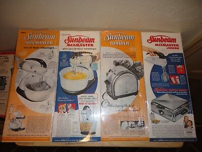 Mag. Ads~1940 - 1950's ~Sunbeam Mixmaster~Stand Mixer-Mixmaster Junior - Toaster