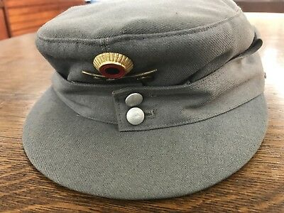WWII German Army M-43 Field Hat Cap Made in West Germany w Solider Name Tag