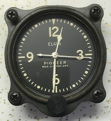 "Elgin Pioneer Grade 562 A-7 2 1/4"" 8 Jewel Aircraft Clock Gold Plated Movement"
