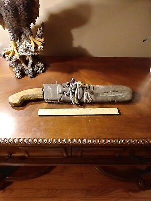 "philippines machete handmade vintage rare filipino bolo sword 18""   19th century"