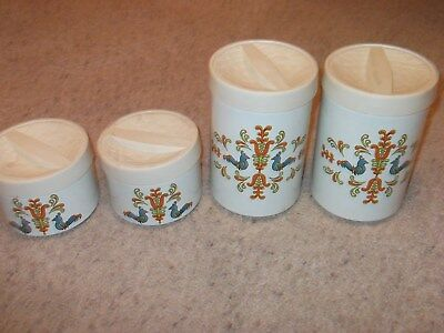 Vintage Beauty Ware Kitchen Cannister Set of 4 Lincoln Metal