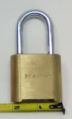 "Master Lock 975DCOM Brass Resettable Combination Padlock 4 Dial 1"" Shackle"
