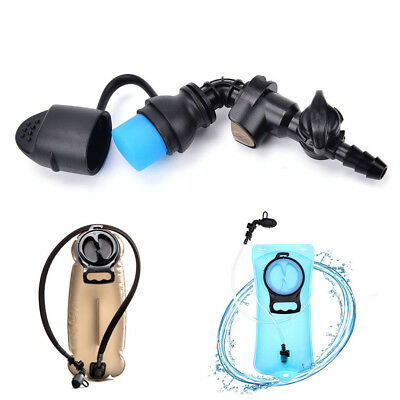 Water Bag Silicone curved Hydration Pack Suction Nozzle Bite Valve Bladder  R