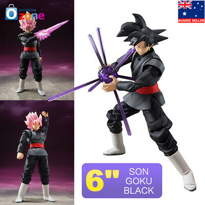 Anime Dragon Ball Z Black Super Gokou Rose S.H.Figuarts Saiyan Goku Figure