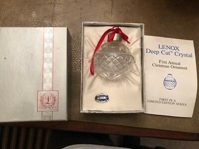1984 Lenox Deep Cut Crystal Christmas Ornament - First in the Series-NO RESERVE!
