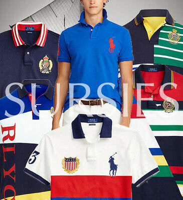 POLO RALPH LAUREN POLO SHIRTS RUGBYS Mens BIG PONY Patchwork CP RL-93 Big & Tall