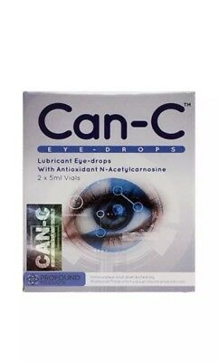 Can-C Eye-Drops Cataract Treatment Without Surgery, (2 X 5 ml Vials) Exp 06 2020