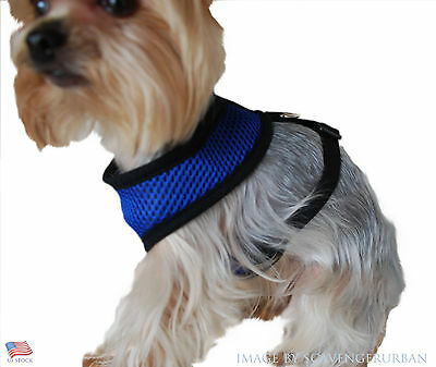 SMALL Adjustable Breathable Nylon Pet Dog Cat Vest Harness Collar Strap Mesh