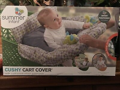 Summer Infant 2-in-1 Cushy Cart Cover and Seat Positioner , New, Free Shipping