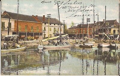 New Orleans, LOUISIANA - Old Basin Terminal - 1910