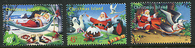 1999 Christmas Island.  Christmas.  Full set of 3 USED.  SG 473/475.  CV £3.