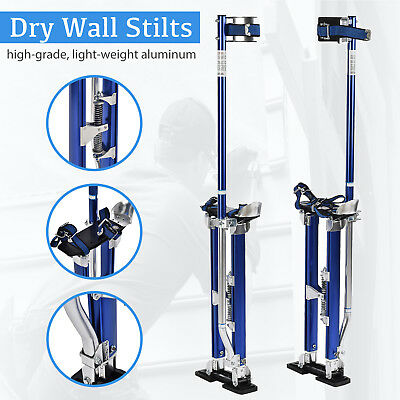 24-40 Inch Aluminum Drywall Stilts Tool Stilt For Painting Painter Taping Blue