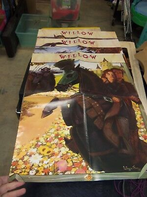 Lot of 3 Willow Vintage 1988 Kraft Movie Posters - NOS