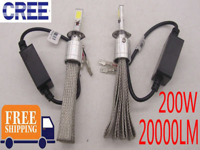 CREE LED Headlight Bulb H1 H4 H7 H111 Light Lamp High Low Beam Kit 200W 20000LM