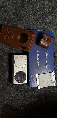 Vintage Vornado Transistor Radio 7YR-17 W/ Case Made ain Japan