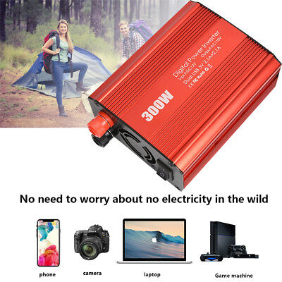 Soyond 300W 350W Car Power Inverter Charger 12V DC to AC 110V with 4.2A Dual USB